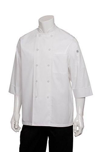 Chef Works Men's Essential 3/4 Sleeve Chef Coat (Professional Chef Coat)