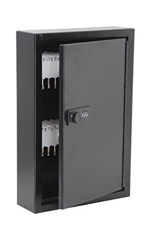 AdirOffice Secure 40 Key Cabinet with Combination Lock - Holds 40 Keys