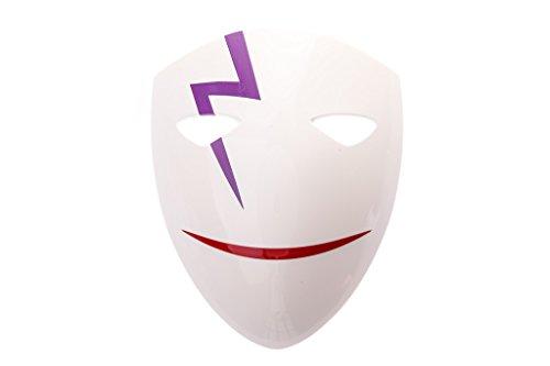 Darker Than Black Costume Mask (Mtxc DARKER THAN BLACK Cosplay Hei Li Shenshun Smile Mask 1st White)