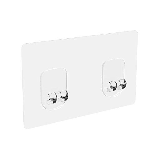 ODesign Transparent Adhesive for Shower Shelf and Bathroom Shelf [4 Pack]