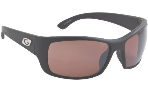 Guideline Eyegear Keel Sunglass, Matte Black Frame, Spring Copper Flash (Silver Mirror) Polarized Lens, Large/X-Large
