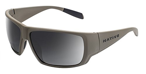 Native Eyewear Sightcaster Sunglass, Desert Tan, Gray