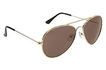 mini aviator sunglasses  Small Adult Mini Aviator Sunglasses with Gold Frames \u0026 Brown ...
