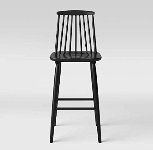 S.Kijchai Harwich High Back Windsor Height Table Barstool - Threshold (Black)