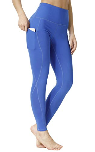 1532e54bc0bed SILKWORLD High Waist Yoga Pants Slim Fit 4-Way Stretch Workout Leggings  with Pockets