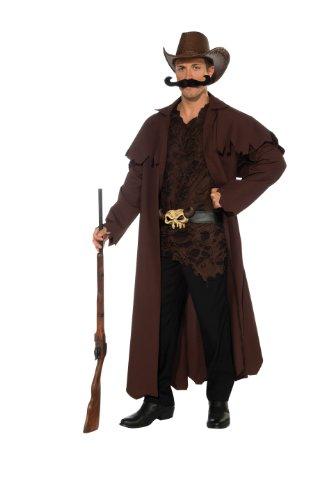 Rubie's Costume Deluxe Western Willy Cowboy, Black/Brown, Standard (Cowboy Duster Coat Costumes)