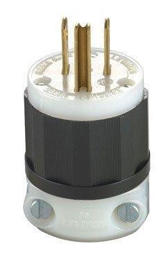 Leviton Grounding Plug Indust. 15 Amp 2 Pole, 3 W Nema 5 - 15 Pole Csa B/W Carded by Leviton