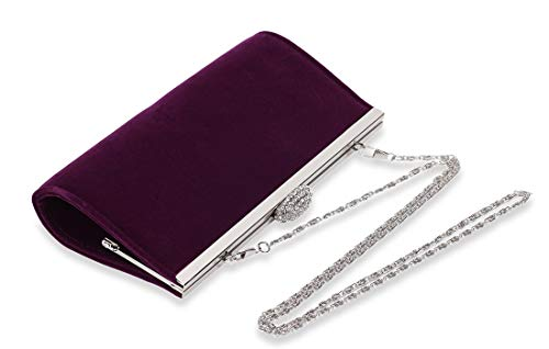 Marswoodsen Women Classic Envelope Velvet Evening Bag Wedding Clutch Purse Handbag ()
