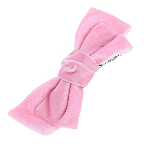 MOPOLIS Womens Girls Velvet Bow knot Hairband Hair Clip Barrettes Hair Pin Bobby Pin | Colors - pink
