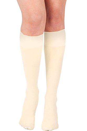 Ivory Knee Sock (KMystic Womens Trouser Socks Knee High Ivory O/S)