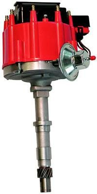 Unit Distributor Vacuum (Proform 67185 Vacuum Advance HEI Distributor with Steel Gear and Red Cap for AMC 290-401)