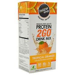 DESIGNER WHEY - Designer Whey Protein 2go Pak - Orange Tropical, 5 paquets