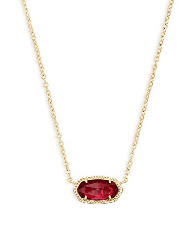 Kendra Scott Elisa Pendant Necklace in Red Berry, 14K Gold-Plated