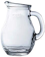 Jarra de agua de cristal transparente, jarra de té | bebida, zumo, limonada | para almuerzo, cena, fiestas, eventos, Mini-250cc
