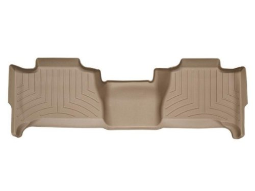 Tan WeatherTech Custom Fit Rear FloorLiner for Cadillac Escalade