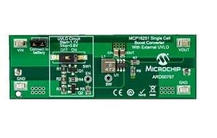 Power Management IC Development Tools MCP16251 Single Cell Boost with Ext UVLO ARD00797
