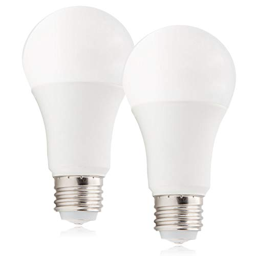 Maxxima 3-Way LED A19 Light Bulb, 40W/60W/100W Equivalent, 500-1000 - 1500 Lumens, 2700K Warm White - 3 Brightness Levels (2 Pack)