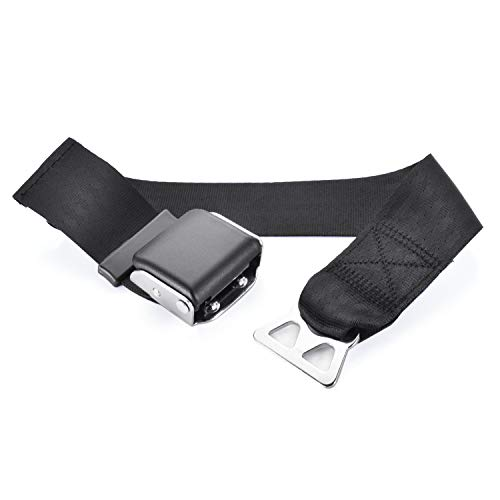 (Ansblue Airplane Seat Belt Extender,for Southwest Airlines,Protect Your Safety and Bring You a Comfortable Trip,Gift Box Packaging- Black/Type B)