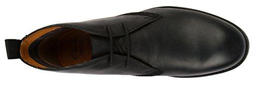Clarks Novato Mid - botas de cuero hombre Negro (Black Leather)