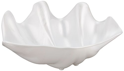 Winco PSBW-1W Shell Bowls, 22 Ounce, Pearl