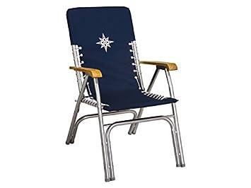 Cubierta plegable DE Luxe Marine apoyabrazos silla madera ...