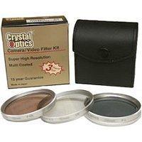 iConcepts 34mm 3-Piece Polarizing/UV/F-DL Filter Kit, MetalRim