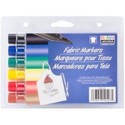 Bulk Buy: Uchida Fabric Marker Broad Tip 6/Pkg Primary 520-6-A (2-Pack)
