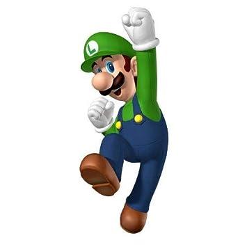 Super Mario Brothers Luigi Jumping Edible Cake Topper Image ABPID12026-1//4 sheet