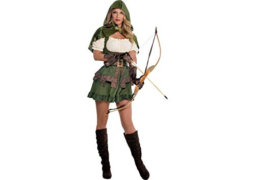 AMSCAN Lady Robin Hood Halloween Costume, Medium, with Included -
