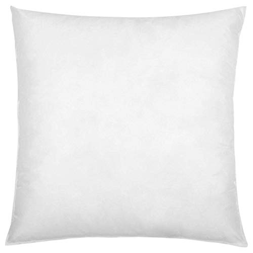 IZO Home Goods Premium Hypoallergenic Throw Pillow Insert Sham Square Form Polyester, 18