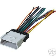 stereo wire harness saturn ion 03 2003 (car radio wiring installation parts) Aftermarket Radio Wiring Harness