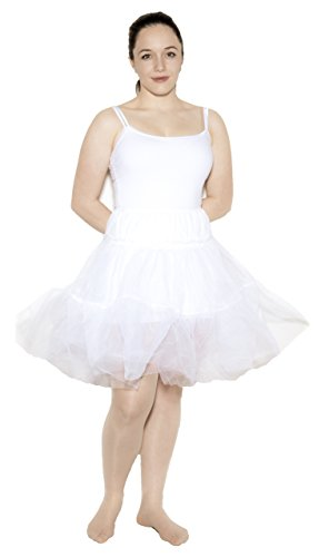 "[Crinoline Petticoat Net Slip - Teen to Adult Small Size - 23"" Length - Hey Viv !] (Make Poodle Skirt Costumes)"