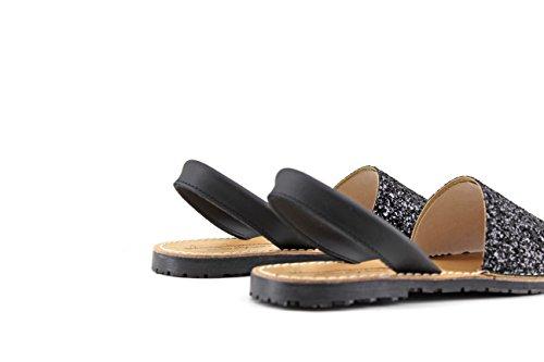 Modelisa Mujer Menorquina Modelisa Menorquina Negro Negro Sandalia Modelisa Menorquina Sandalia Mujer Mujer Sandalia ZZgqE