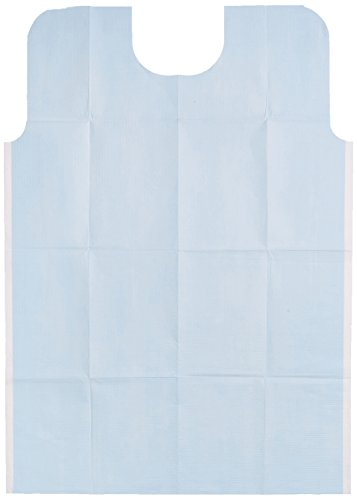 TIDI Products 917493 2-Ply Tissue/Poly Oral Surgery Bibs, Waffle Embossed, Blue, 29