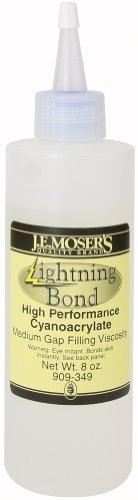 J.E. Moser's 909349, 3-Pack, Adhesives, Instant, Medium Viscosity Lightning Bond