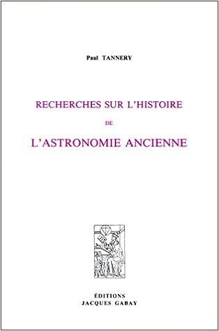 Lire Recherches sur l'histoire de l'astronomie ancienne pdf, epub