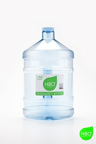 Polycarbonate Durable Bottle (H8O Polycarbonate Round Water Bottle with Handle, 38mm Cap, 1 gallon)
