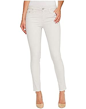 Calvin Klein Jeans Womens Garment Dyed Ankle Skinny Pants in Lilac Marble