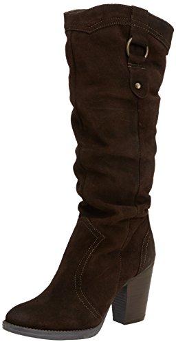 Steve Madden Gambbler - Botas de cuero para mujer marrón - Brown (Brown Nubuck)