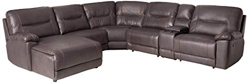 Homelegance Columbus Leath-Aire Sectional Sofa, Brown