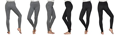 Christi Women's Comfortblend Fleece Legging Shinny Pant(S,6PCS)