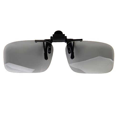 1 Pair Passive Circular Polarized 3D Glasses Clip On type for 3D TV