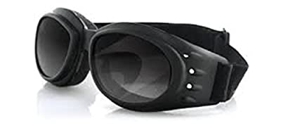 Bobster Cruiser II Interchangeable Motorcycle Touring Sunglasses/Goggles - Black/Anti-Fog Smoked, Amber, Clear by Bobster