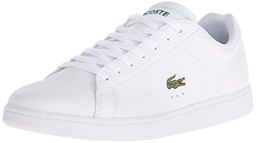 Lacoste Men's Carnaby EVO LCR Casual Shoe Fashion Sneaker, White, 11 M US (Sneakers White Lacoste)