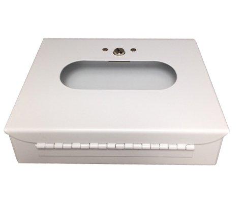 Sanitary Napkin & Tampon Disposal Bag Dispenser -Box Format, White