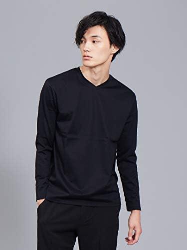 トップス 【展開店舗限定】シルケット天竺Vネック ロングTシャツ(ソリッドカラーシリーズ) メンズ