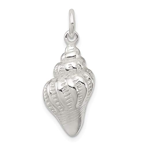 925 Sterling Silver Sea Shell Mermaid Nautical Jewelry Pendant Charm Necklace Shore Fine Jewelry Gifts For Women For ()
