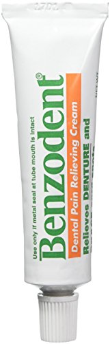 Benzodent Dental Pain Relieving Cream 1 oz (Pack of 2)
