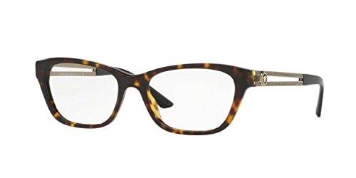 Versace Women's VE3220 Eyeglasses Dark Havana - Eyeglasses Versace Havana
