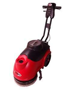 Viper Floor Machine - Viper Fang 15B Compact Battery Micro Auto Floor Scrubber Nylon Brush Included